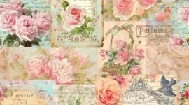 """Tecido Impresso Vintage """"Rosas Vintage"""""""