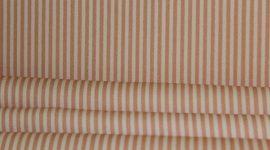 Tecido sarja riscas salmão