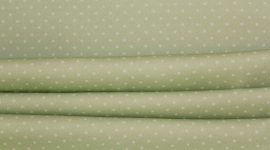 Tecido sarja pintas verde água