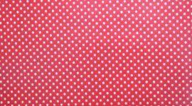 Tecido plastificado pintas vermelho