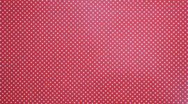Tecido plastificado pintas pequenas vermelho