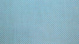 Tecido plastificado pintas pequenas azul