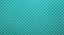 Tecido plastificado pintas azul turquesa