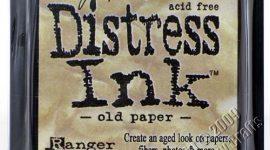 Ranger ink pad old paper