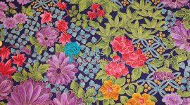 Tecido Japonês flores