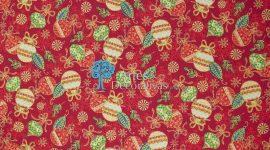 Tecido Natal bolas vermelhas