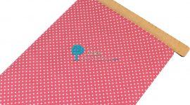 Tecido algodão pintas rosa velho