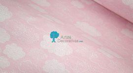 Loneta nuvens rosa