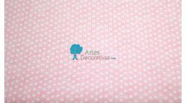 Fustão rosa pintas