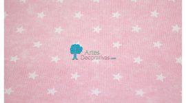 Fustão rosa estrelas