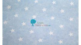 Fustão azul estrelas