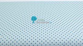 Tecido pintas azul claro