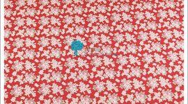 Tecido flores vermelho