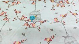 Tecido plastificado Birdcage turquoise