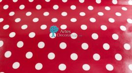 Tecido plastificado Dots Giant red