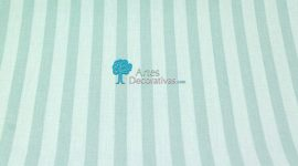 Tecido plastificado Stripe ice-green
