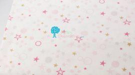 Tecido Estrelas e bolas