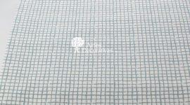 Tecido quadrados azuis cinza